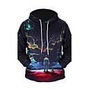 cheap Men's Boots-Men's Long Sleeves Hoodie - 3D Print Hooded