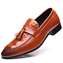 cheap Men's Slip-ons & Loafers-Men's Formal Shoes Patent Leather Fall / Winter British Loafers & Slip-Ons Black / Brown / Red / Party & Evening