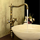 cheap Wall Sconces-Bathroom Sink Faucet - High Quality Antique Brass Centerset Two Handles One Hole