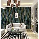 halpa Seinämaalaus-Damaski 3D Geometrinen printti Kodinsisustus Rustiikki Seinäpinnat, Kangas materiaali liima tarvitaan Seinämaalaus, huoneen Tapetit