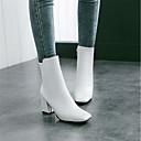 halpa Lasten loaferit-Naisten Bootsit Tylpät kärjet Vetoketjuilla Tekonahka Säärisaappaat Muotisaappaat Talvi Valkoinen / Musta / Punainen / EU41