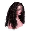 tanie Syntetyczne peruki z siateczką-Syntetyczne koronkowe peruki Kinky Curl Z Baby Hair Włosie synetyczne Brązowy Peruka Damskie Długie Siateczka z przodu Ciemnobrązowy