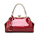 cheap Totes-Women's Bags Patent Leather Tote Buttons Blushing Pink / Fuchsia / Wine