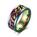 cheap Men's Rings-Men's Band Ring - Stainless Steel Rock, Hip-Hop 7 / 8 / 9 / 10 / 11 Assorted Color For Party Club