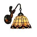 preiswerte Überlebenssets-Durchmesser 20 cm Retro Land Meerjungfrau Tiffany Wandleuchten Glas Schatten Wohnzimmer Schlafzimmer Leuchte