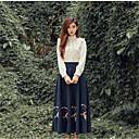 cheap Men's Sneakers-Women's Cotton Shirt - Floral Skirt Shirt Collar