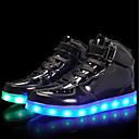 billige Sneakers til damer-Gutt Sko Lakklær / Kustomiserte materialer Høst Komfort / Lysende sko Treningssko Snøring / Hekte / LED til Sølv / Blå / Rosa