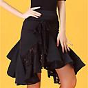 cheap Kids' Dancewear-Latin Dance Women's Performance Ice Silk Lace Ruffles High Skirts
