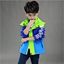 povoljno Jakne i kaputi za dječake-Djeca Dječaci Color block Jakna i kaput Plava 140