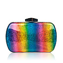 cheap Shoulder Bags-Women's Bags PU Evening Bag Buttons Rainbow