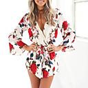 رخيصةأون باروكات تنكرية-رقبة V طباعة / التفاف, ورد - ثياب خارجية فضفاضة عطلة للمرأة / صيف