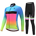 cheap Cycling Pants, Shorts, Tights-Miloto Women's Long Sleeves Cycling Jersey with Tights - Luminous Bike Clothing Suits