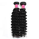 olcso Természetes színű póthajak-2 csomag Perui haj Mély hullám Kémiai anyagoktól mentes / nyers Emberi haj sző Human Hair Extensions