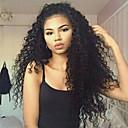 olcso Emberi hajból készült parókák-Emberi haj Csipke Paróka Brazil haj Laza hullám Paróka Réteges frizura 130% Természetes hajszálvonal / Fekete hölgyeknek / 100% Szűz Női Rövid / Közepes / Hosszú Emberi hajból készült parókák