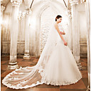 cheap Party Supplies-Two-tier Wedding Veil Cathedral Veils with Appliques Lace / Tulle / Angel cut / Waterfall