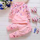 tanie Zestawy ubrań dla niemowląt-Brzdąc Dla dziewczynek Kwiaty Bawełna Komplet odzieży