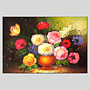 cheap Floral/Botanical Paintings-Oil Painting Hand Painted - Still Life Comtemporary Canvas