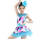 preiswerte Kindertanzkleidung-Tanzkleidung für Kinder Kleider Damen Leistung Elasthan Elastan Lycra Muster / Druck Ärmellos Normal Kleid Kopfbedeckung