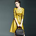 preiswerte Mädchenschuhe-Damen Ausgehen Street Schick Schlank A-Linie / Hülle Kleid - Reine Farbe, Solide Knielang