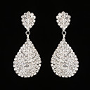 cheap Jewelry Sets-Women's AAA Cubic Zirconia Drop Earrings - Rhinestone Drop Silver For Wedding / Party