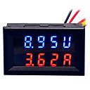 cheap Modules-DIY Practical Dual 0.28 inch 3 Digit Red Blue LED Display Voltage Current Meter (DC 0 - 100V / 50A)
