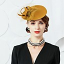 cheap Party Headpieces-Wool Tulle Fascinators Hats 1 Wedding Party / Evening Headpiece