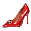 preiswerte Damen Heels-Damen Schuhe PU Frühling / Herbst Pumps High Heels Schwarz / Rot / Hautfarben / Party & Festivität / Party & Festivität