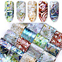 cheap Nail Stickers-16 pcs Artificial Nail Tips Full Nail Stickers nail art Manicure Pedicure Fashionable Design Chic & Modern