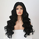 cheap Dog Travel Essentials-Synthetic Lace Front Wig Body Wave Synthetic Hair Middle Part Sew in Black Wig Long Lace Front Natural Black