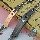 cheap Bracelets-Personalized Gift Bracelets Rhinestone Titanium Steel Couple's Simple Geometric Art Deco/Retro Chic & Modern Couple Shoes Fashion Gift