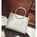 cheap Shoulder Bags-Women's Bags PU Shoulder Bag Buttons / Zipper Dark Gray / Dark Green / Brown