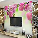voordelige Muurschilderingen-Patroon 3D Bloem Huisdecoratie Rustiek Behangen, Kangas Materiaal lijm nodig Muurschildering, Kamer wandbekleding