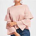 povoljno Naljepnice, etikete i privjesci-Žene Dugih rukava Pullover Jednobojni / Jesen / flare rukav