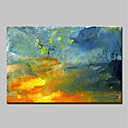 cheap Abstract Paintings-Oil Painting Hand Painted - Abstract Abstract / Modern Stretched Canvas