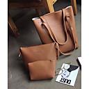 cheap Bag Sets-Women's Bags PU Bag Set Flower Dark Gray / Light Gray / Brown