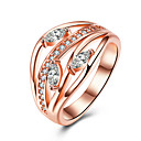 cheap Earrings-Women's Crystal Band Ring / Engagement Ring - Zircon, Alloy Heart 6 / 7 / 8 Rose Gold For Wedding / Party / Birthday