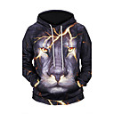 cheap Men's Boots-Men's Weekend Active Long Sleeves Hoodie - 3D Print Hooded