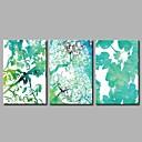 זול ציורים מופשטים-הדפסי בד מתוחים מודרני, שלושה פנלים בַּד אופקי פנורמי דפוס דקור קיר קישוט הבית