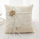 cheap Ring Pillows-Bowknot Ribbon Tie Lace Flower Ring Pillow Beach Theme Classic Theme Fairytale Theme All Seasons