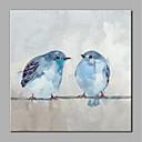 baratos Pinturas Animais-Pintura a Óleo Pintados à mão - Animais Estilo Moderno Tela de pintura