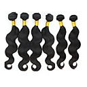 cheap Dial Locks-6 Bundles Malaysian Hair Body Wave Remy Human Hair Natural Color Hair Weaves Human Hair Weaves Human Hair Extensions Women's