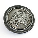 cheap Anime Cosplay Accessories-Badge Inspired by Game of Thrones Eren Jager Anime Cosplay Accessories Brooch Alloy
