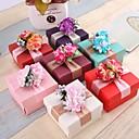 זול קופסאות למתנות ומזכרות-מעוקב נייר פנינה מחזיק לטובת עם פרח קופסאות קישוט