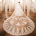 preiswerte Hochzeitsschleier-Einschichtig Hochzeitsschleier Kathedralen Schleier Mit Applikationen Spitze Tüll