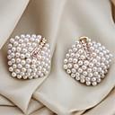 preiswerte Modische Ohrringe-Damen Ohrstecker - Künstliche Perle Weiß Für Geschenk / Festival