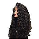 cheap Synthetic Capless Wigs-Human Hair Glueless Lace Front / Lace Front Wig Brazilian Hair Kinky Curly Wig Bob Haircut / Layered Haircut 150% Natural Hairline / 100% Virgin / Unprocessed Women's Medium Length Human Hair Lace Wig