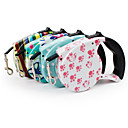 cheap Dog Clothes-Dog Leash Portable Geometric Nylon Blue / Pink / Rainbow