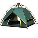 رخيصةأون مفارش و خيم و كانوبي-4 شخص أوتوماتيكي الخيمة في الهواء الطلق سوستة مقاومة للماء يمكن ارتداؤها طبقات مزدوجة خيمة التخييم 2000-3000 mm إلى التخييم والتنزه Camping / Hiking / Caving تيريليني