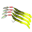 cheap Fishing Lures & Flies-4 pcs Soft Jerkbaits Metalic Plastic Sea Fishing Bait Casting Spinning Jigging Fishing Freshwater Fishing General Fishing Lure Fishing
