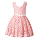 cheap Girls' Dresses-Girl's Holiday Floral Dress, Polyester Sleeveless Cute Princess Blue Red Blushing Pink